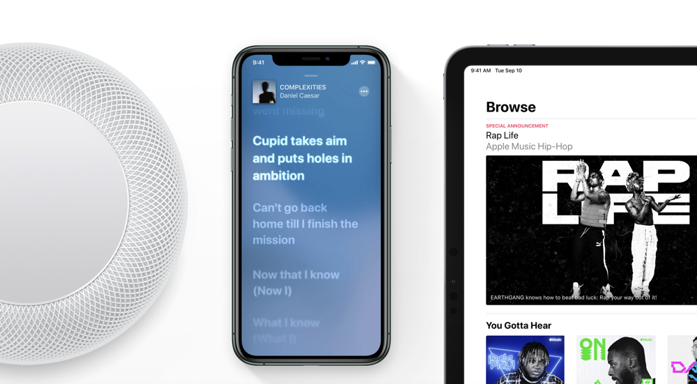 Search for songs using lyrics in Apple Music