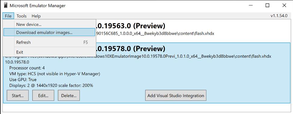 windows 10x emulator preview
