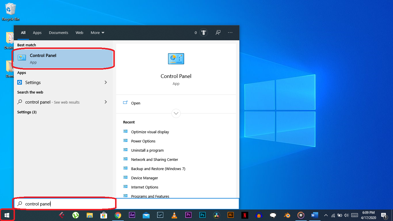 Optimize visual effects on windows 10