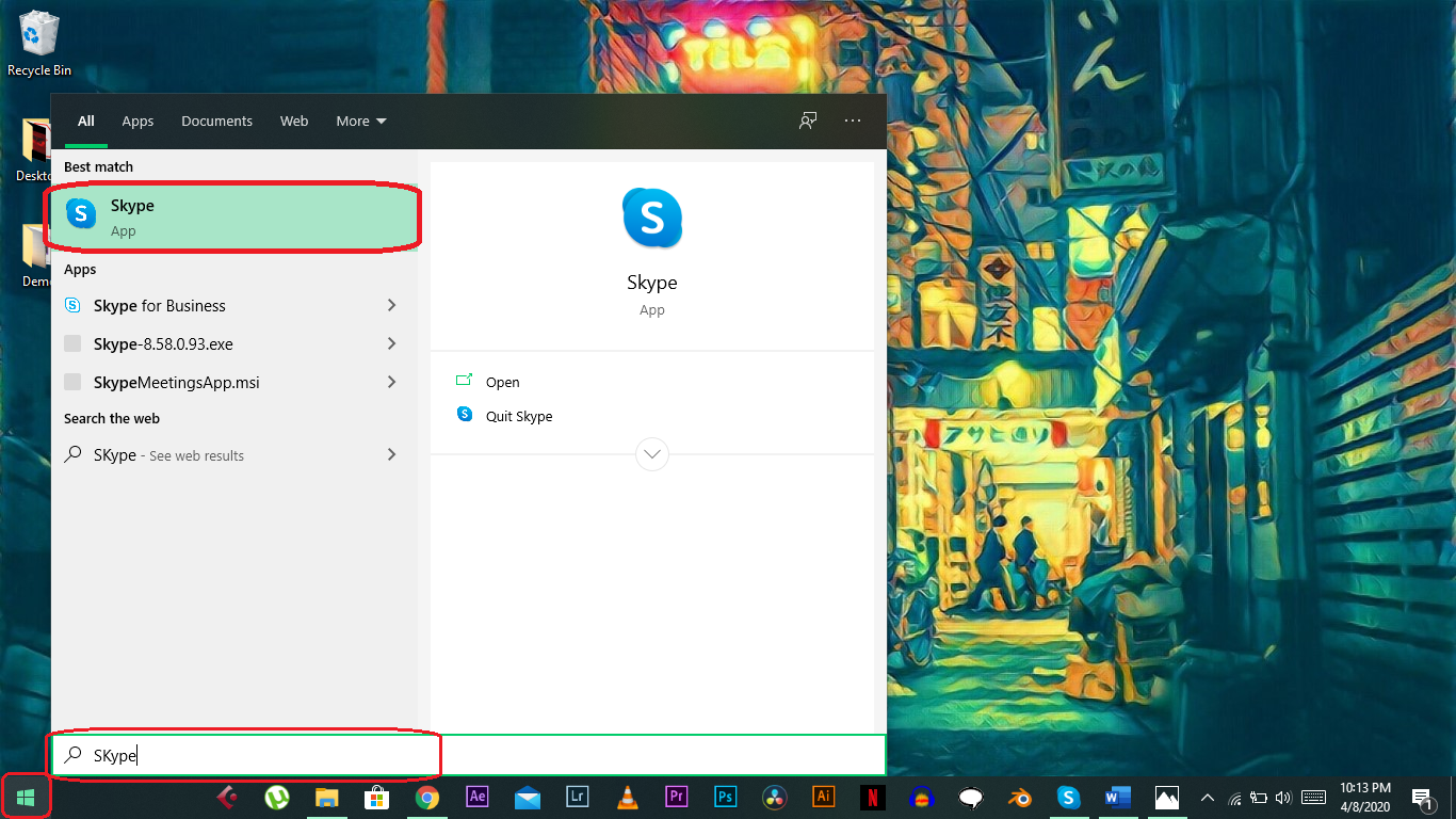 • Share Screen On Skype for Windows 10