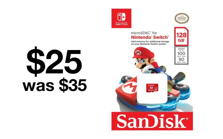 128GB SanDisk microSD for Nintendo Switch currently on sale for $25
