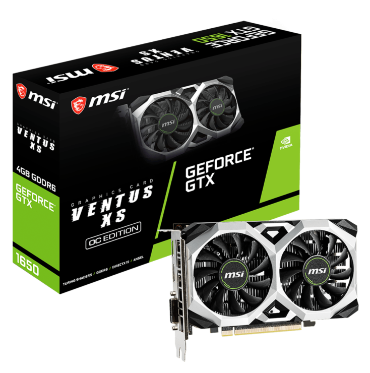MSI GeForce GTX 1650 GDDR6 Graphics Cards D6 Ventus XS