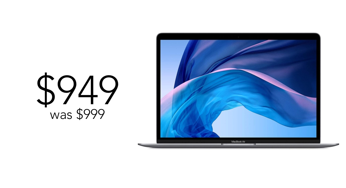 2020 MacBook Air discounted to $949, down from $999 MSRP