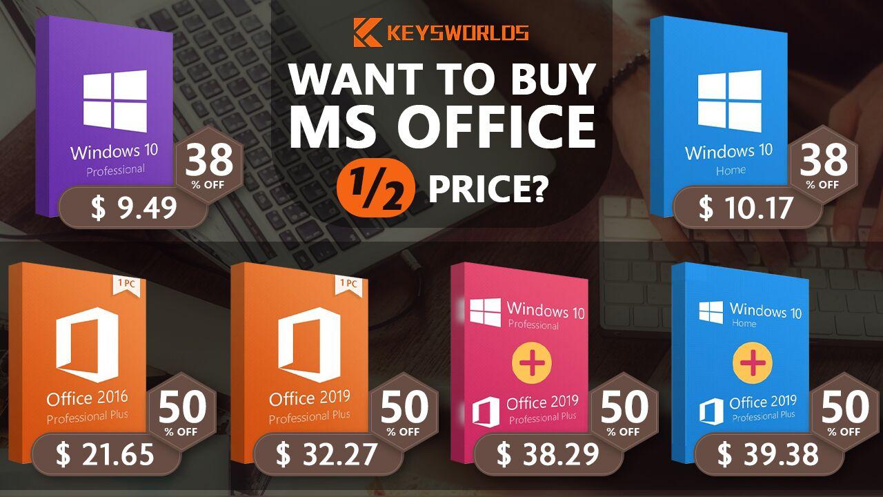 microsoft office  including mac version  at half price