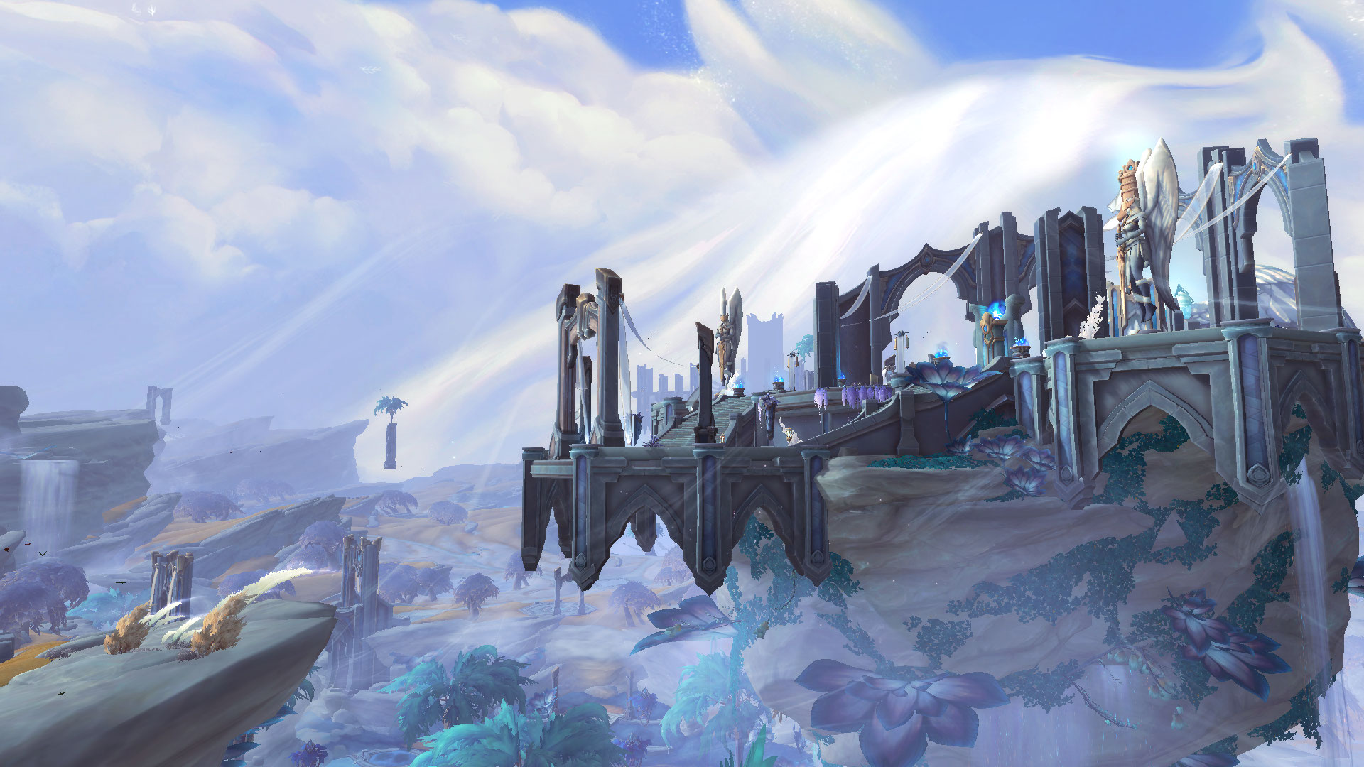 Image of article 'New World of Warcraft Shadowlands Screenshots from the Game's Alpha Show off the New Bastion Zone'