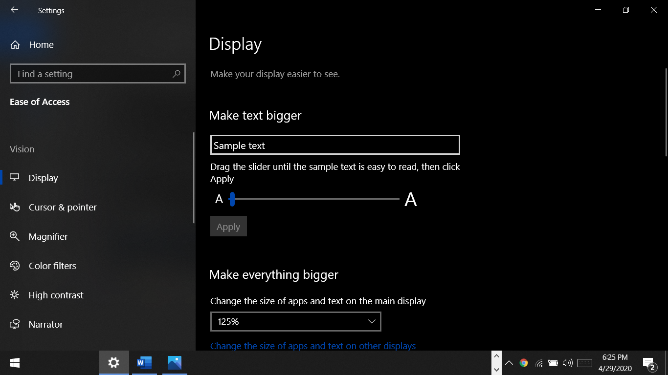How to change scaling on Windows 10