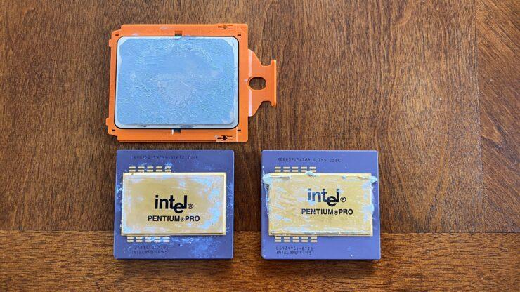 Intel Pentium Pro/AMD Ryzen Threadripper size comparison.