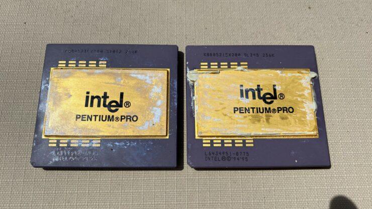 Pentium Pro CPUs - Front