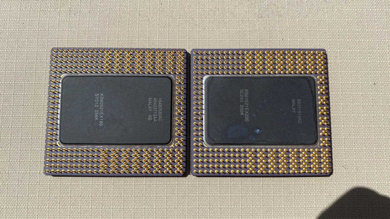 Pentium Pro CPUs - Back