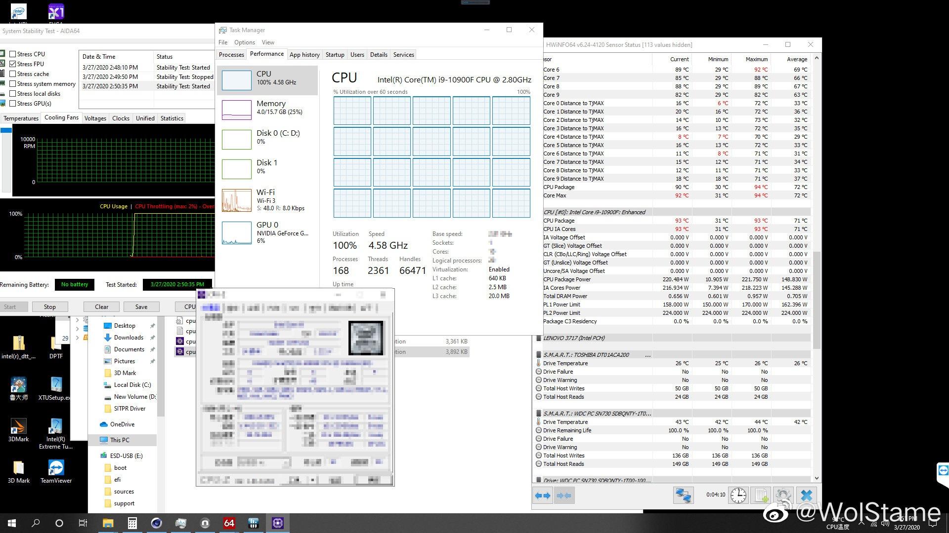 Intel i9-10900k Temperatures - GamesFontaine