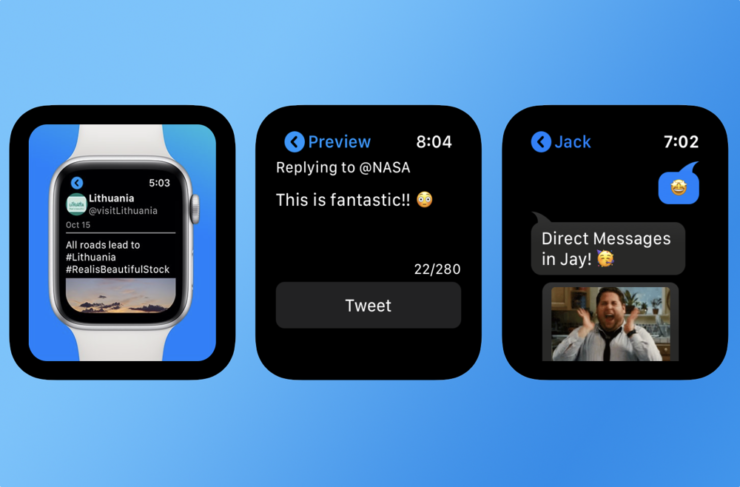 Send and receive Twitter DMs from Apple Watch using Jay app