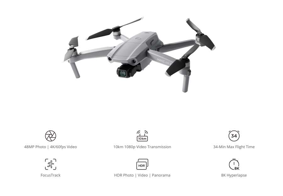 DJI Mavic Air 2 Specs & Features