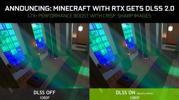Minecraft RTX confirma fecha para su primera beta y soporte al DLSS 2.0