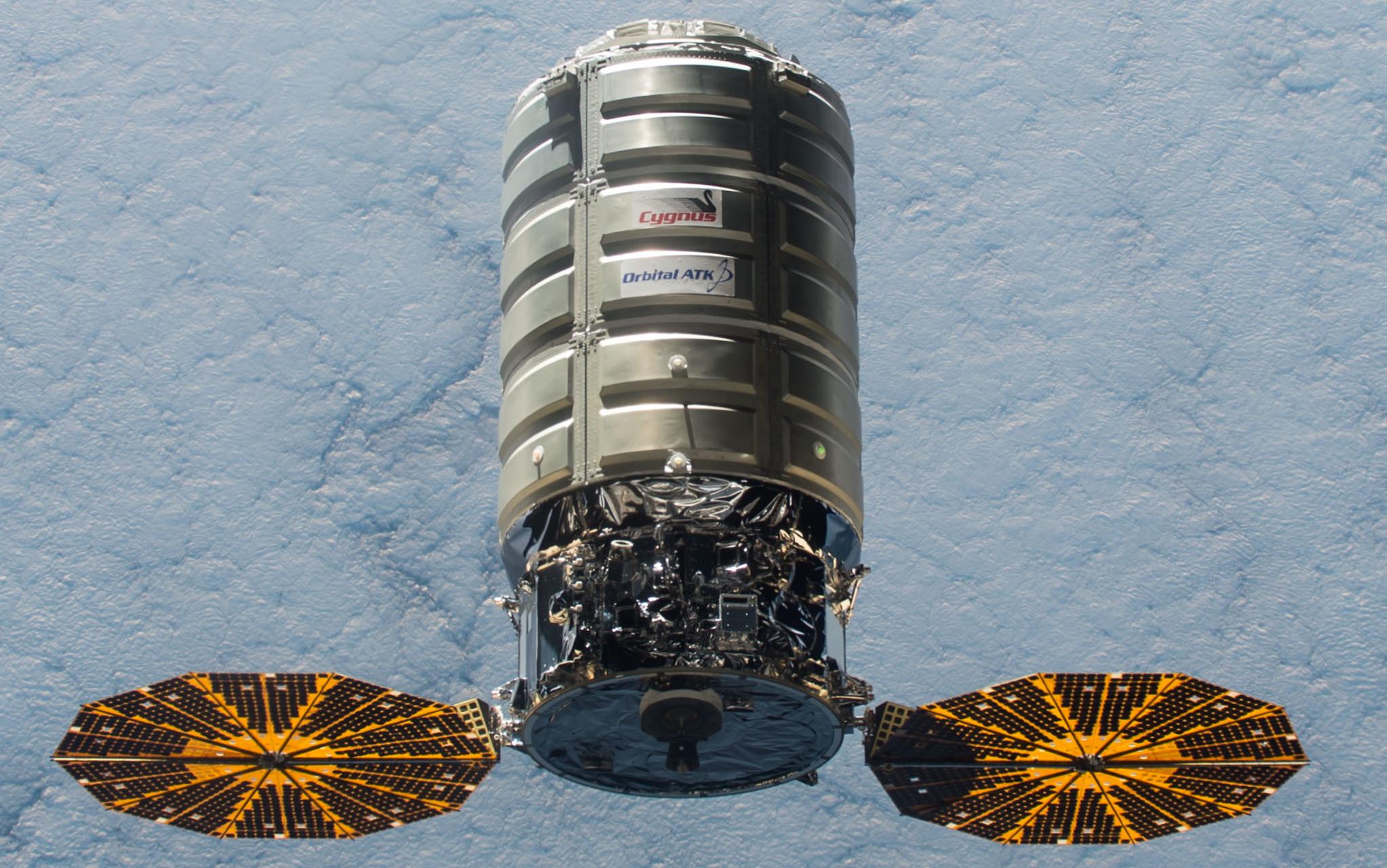 Northrop Grumman Orbital ATK Cygnus approaching the International Space Station