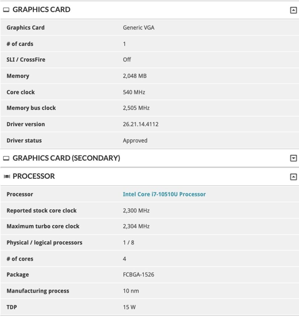 NVIDIA GeForce MX450 Turing GPU Specifications Leak