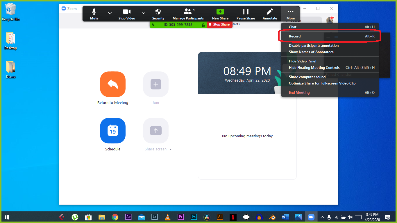 How to Record Screen in Zoom on Windows 10