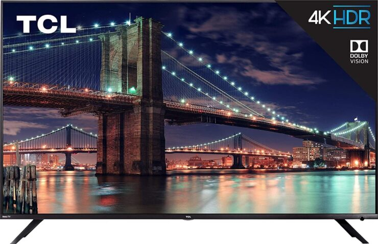 TCL 55-inch 4K HDR TV with Dolby Vision discounted to just $449