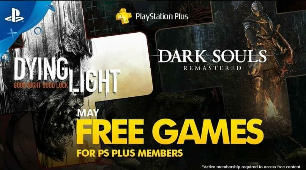 dark souls dying light ps plus may 2020 ps4