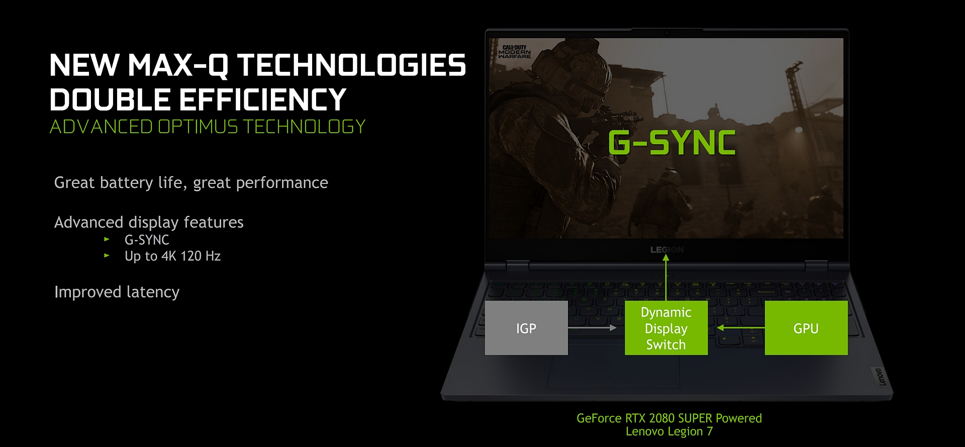GeForce laptops Advanced Optimus