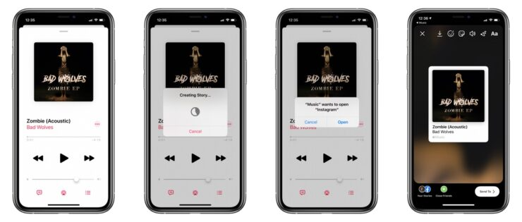 iOS 13.4.5 Apple Music Sharing Stories