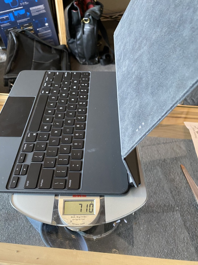 12.9-inch iPad Pro Magic Keyboard has a weight of 710 grams