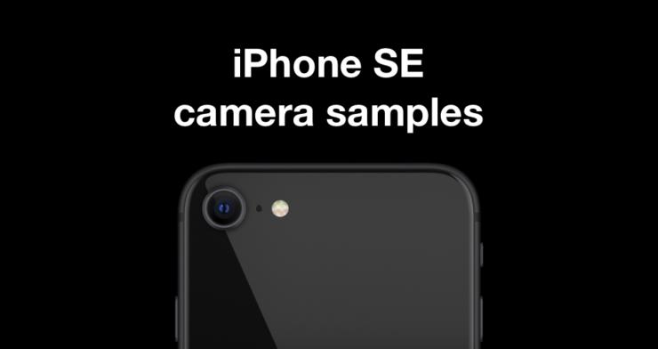 iPhone SE camera samples uploaded online