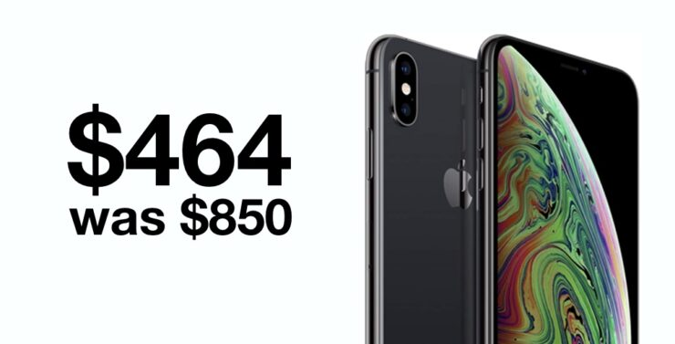 Renewed iPhone XS discounted to just $464