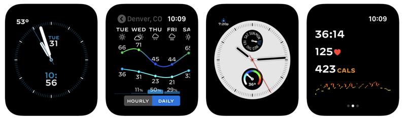 Watchsmith app running on Apple Watch