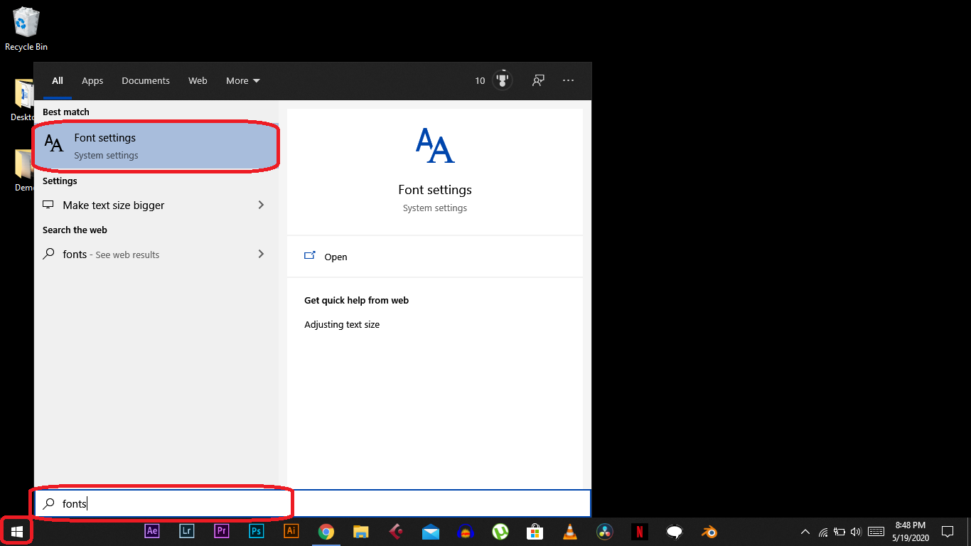 How to Install Third Party Fonts on Windows 10