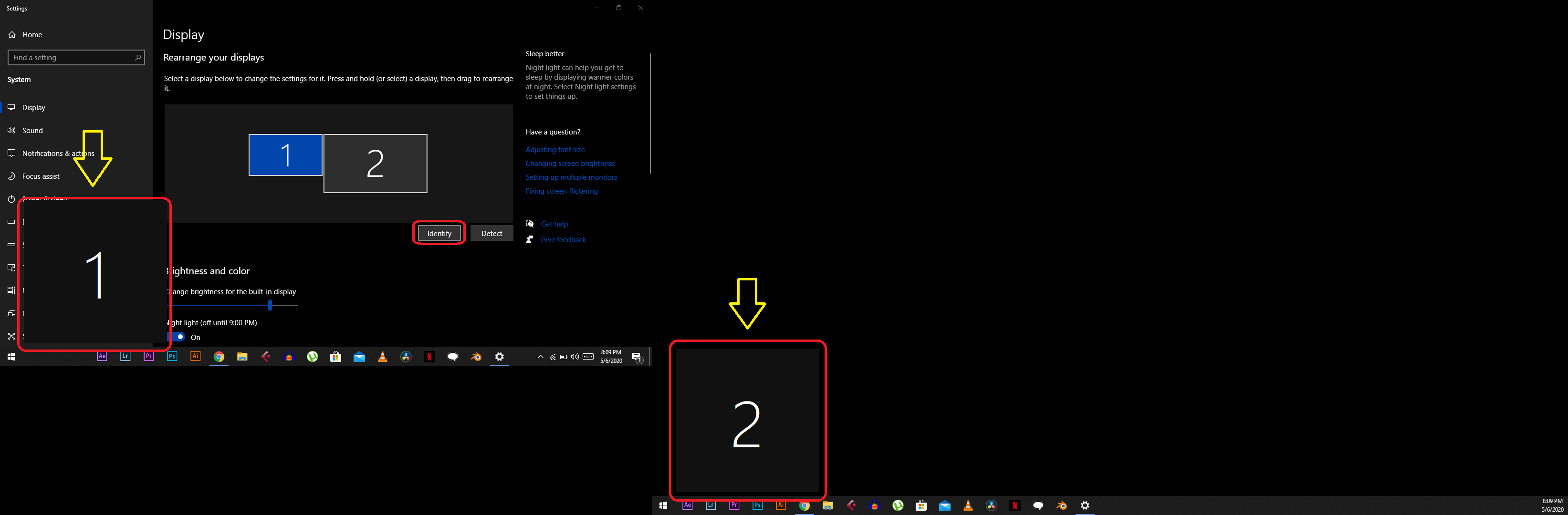How to Use Two Displays on Windows 10