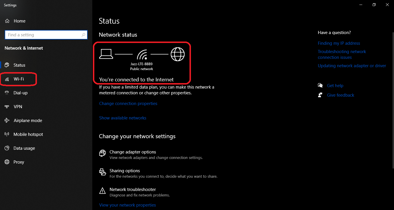 WiFi Signals Strength on Windows 10