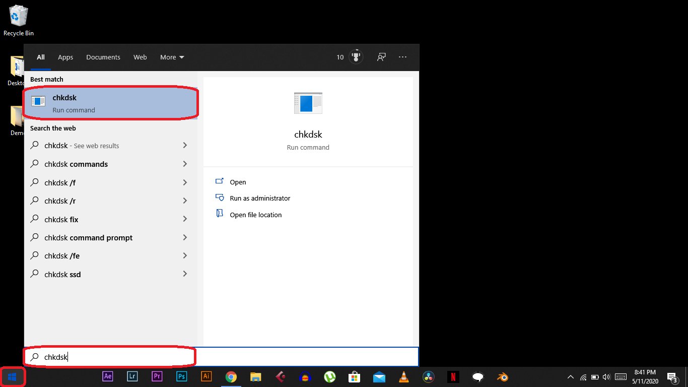 How to Use Check Disk Command on Windows 10