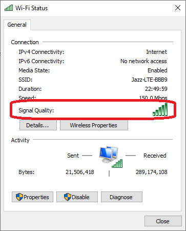How to Check WiFi Health on Windows 10