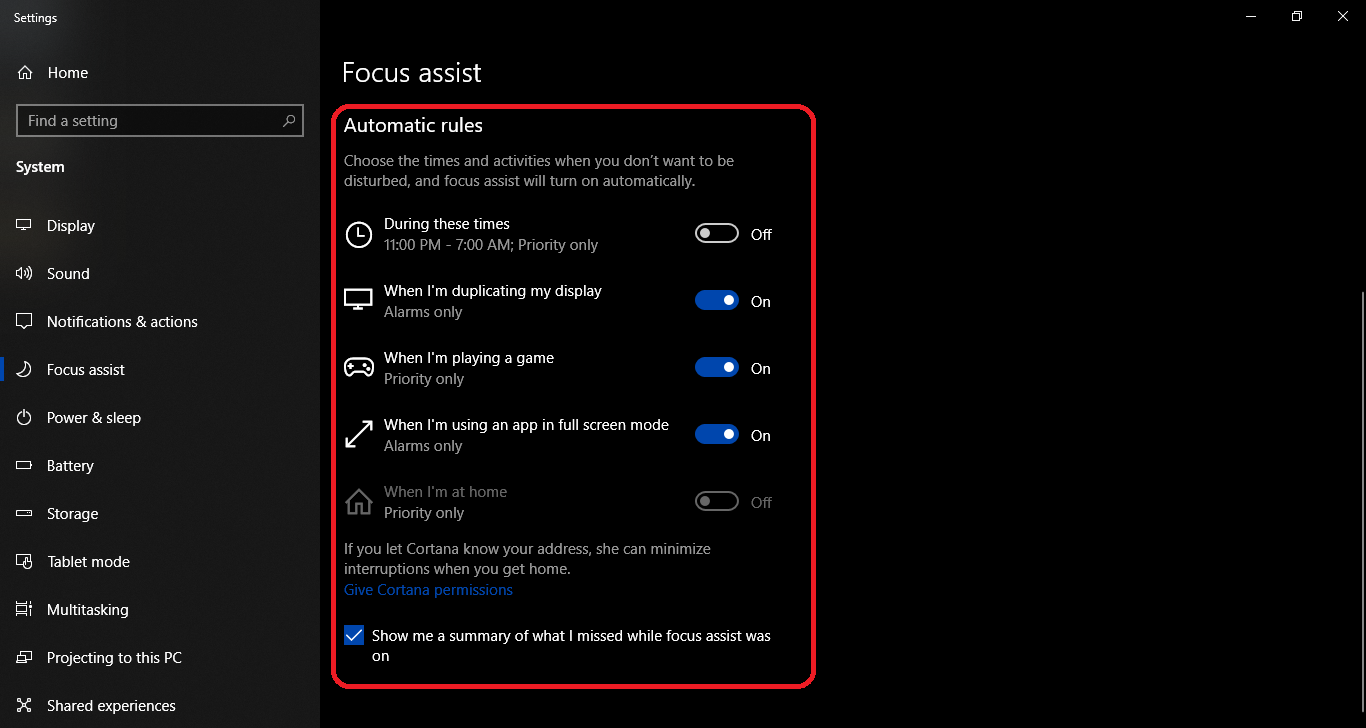 What is Focus Assist on Windows 10