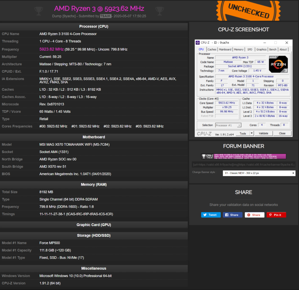 Ryzen 3100 Quad Core Overclocked AMD-Ryzen-3-3100-5.9
