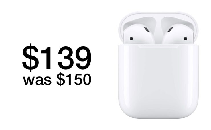AirPods 2 with H1 chip drop to $139 with Charging Case