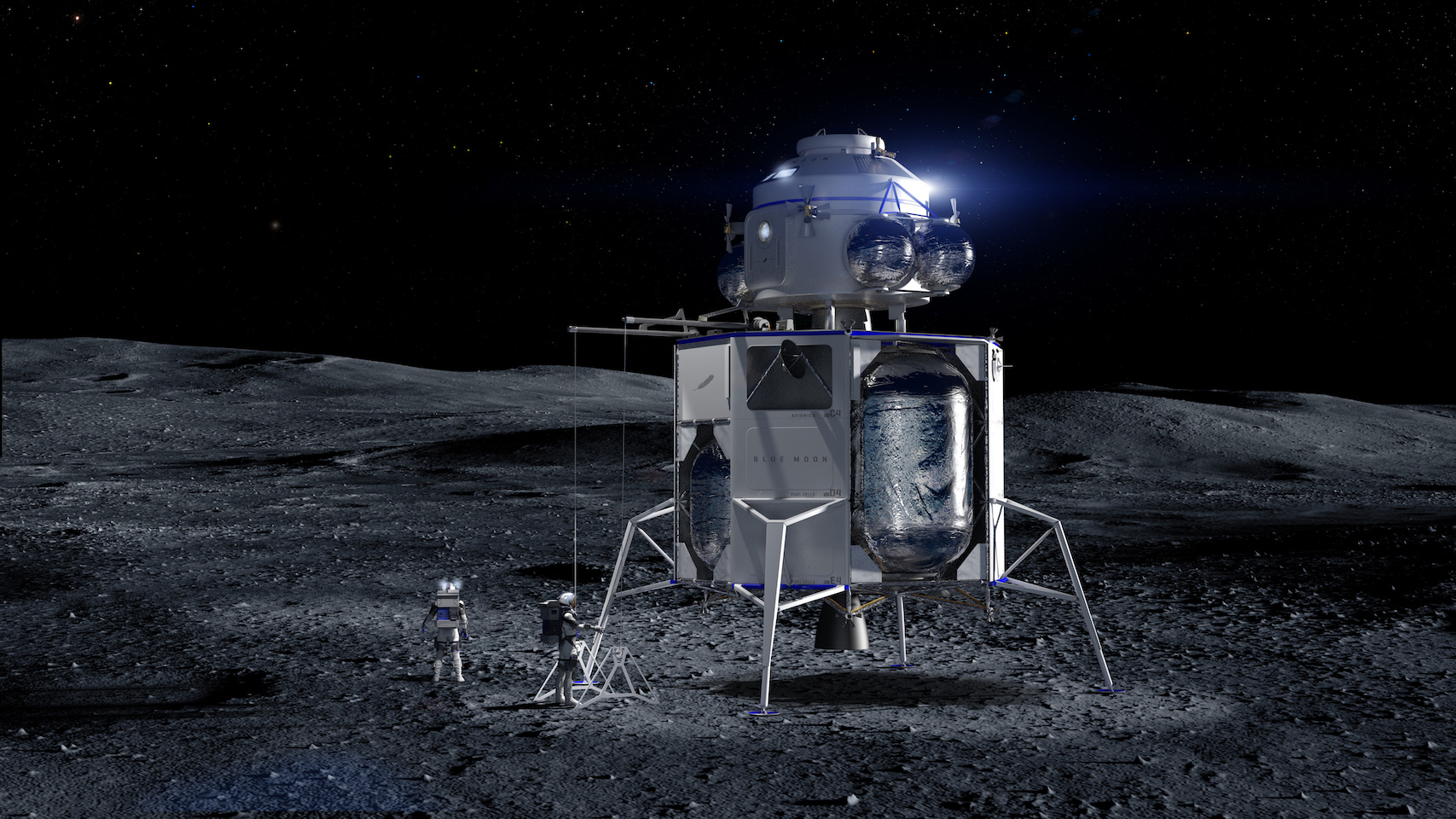 BLUE ORIGIN BLUE MOON NASA HUMAN LANDING SYSTEM VEHICLE