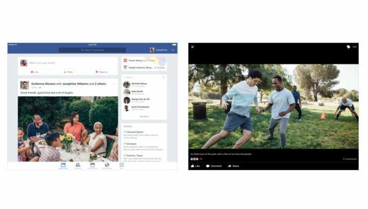 Facebook iPadOS Split View