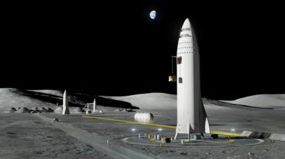 SpaceX Starship lunar lander