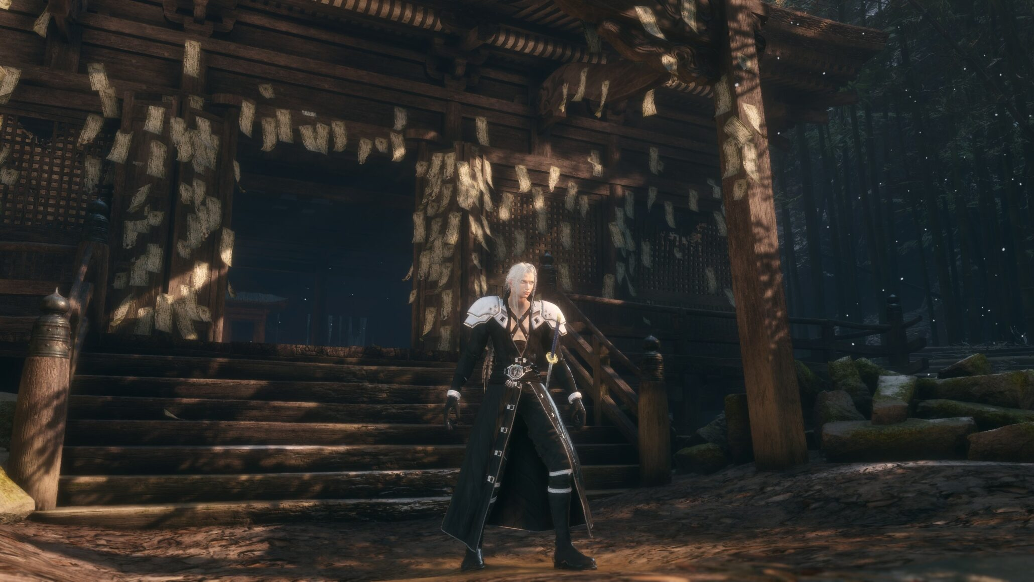 Sekiro Shadows Die Twice Updated Final Fantasy Vii Remake Sephiroth Mod Makes The Character Fully Playable