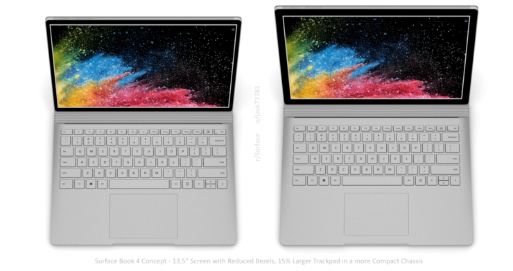 Microsoft Surface Book 4 Design Gets a Well-Deserved Makeover in Fresh Mockup - 15% Larger Trackpad, Compact Chassis, More