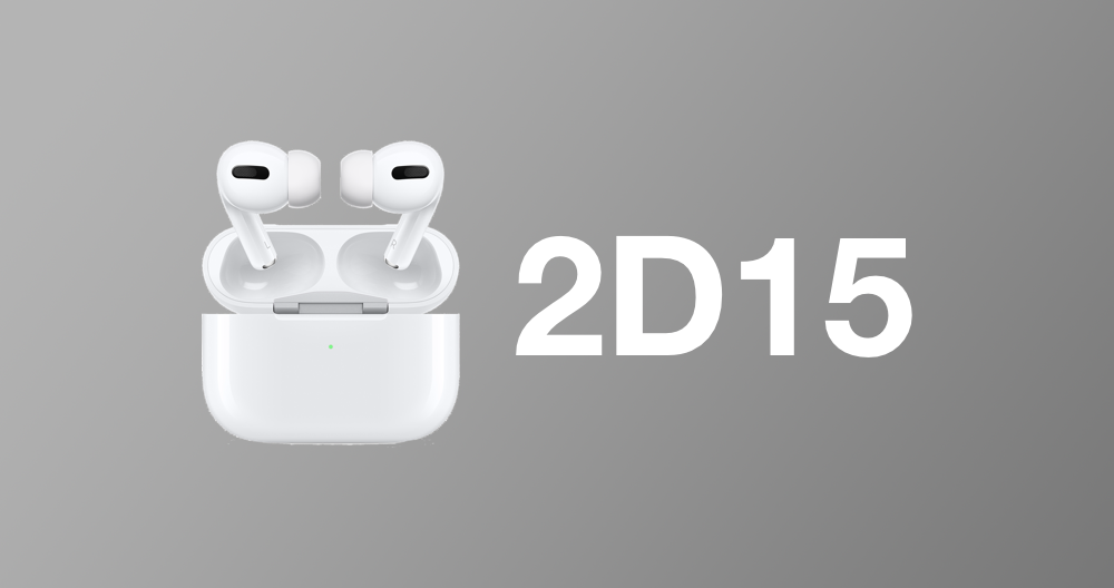 Apple Releases Airpods Pro Firmware 2d15