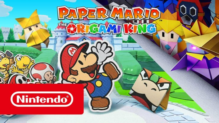 switch paper mario origami king