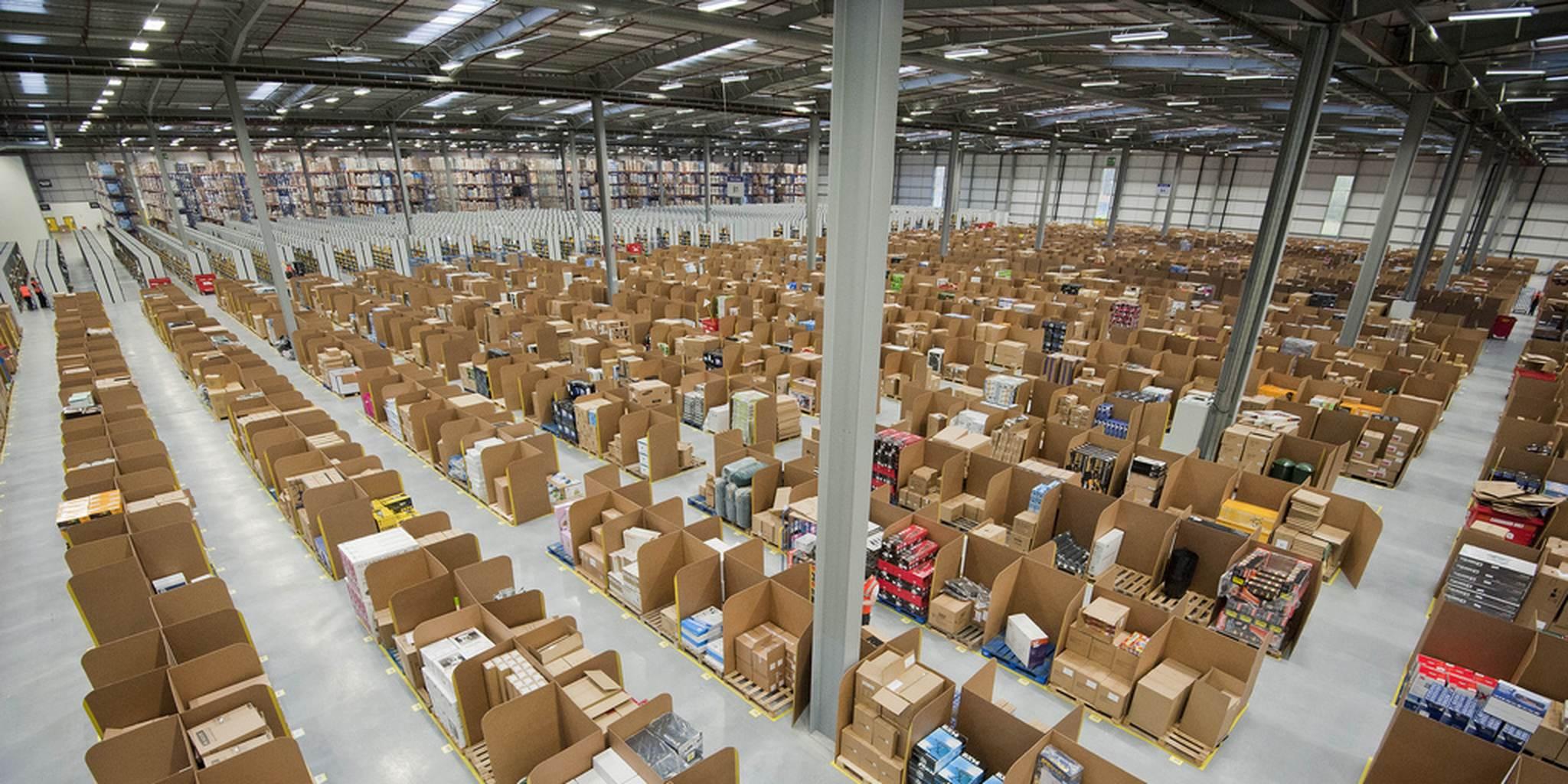 AMAZON MILLION SQUARE FOOT WAREHOUSE