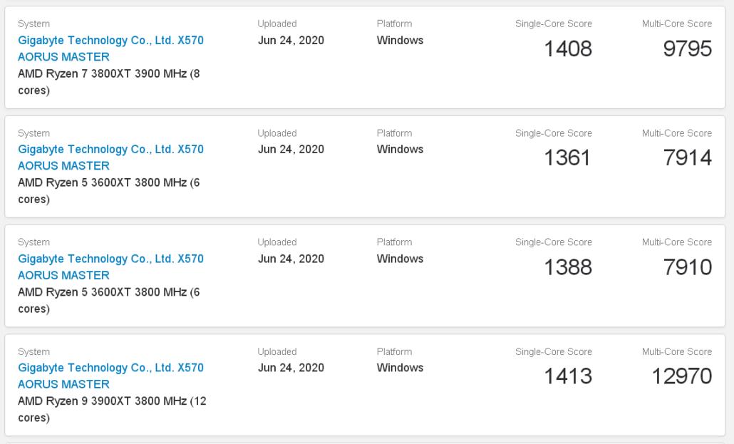 AMD Ryzen 3000XT CPU_Matisse Refresh_Ryzen 9 3900XT, Ryzen 7 3800XT, Ryzen 5 3600XT