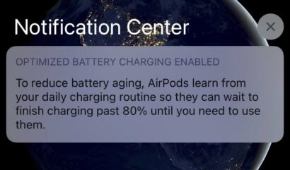 AirPods Optimized Charging Notification