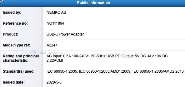 Leaked 20W Power Adapter for Upcoming iPhone 12 Series Reportedly Receives Certification