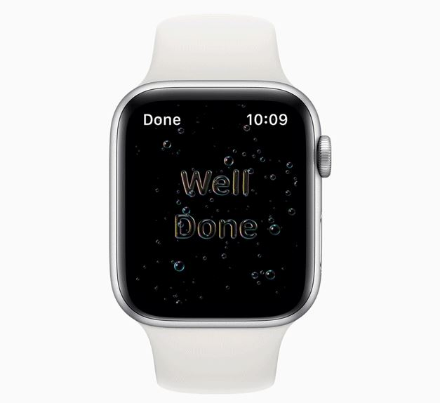 watchOS 7 handwashing
