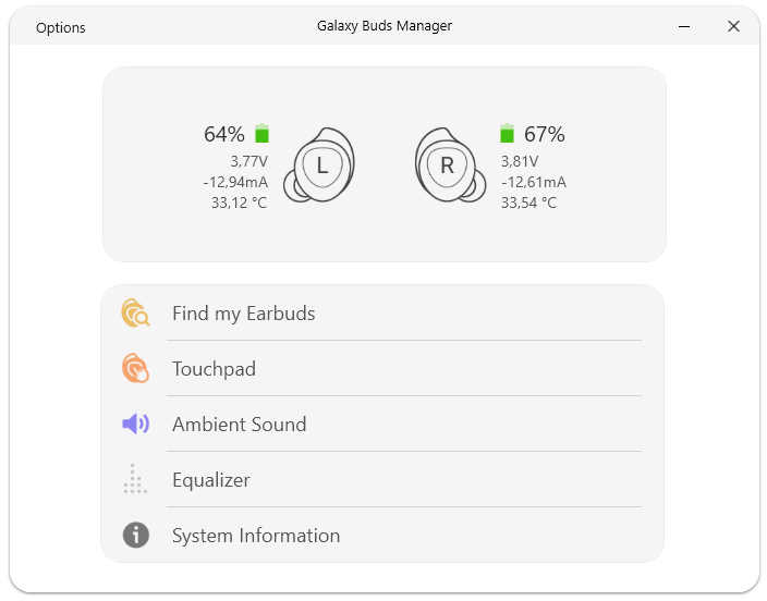 Galaxy Buds Manager