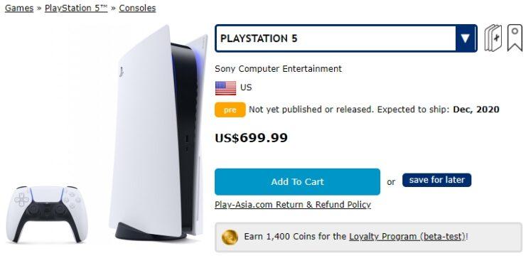 PS5 cena
